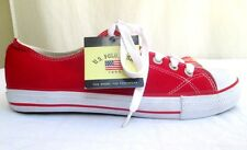 U.S. POLO ASSN..RED..CLASSIC..LACE UP..CANVAS..SNEAKERS..NEW w TAGS..sz 10.5