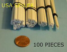 STYRENE 1/2 ROUND ROD - 100 PIECE ASSORTMENT LOT- 5 SIZES - PIPE
