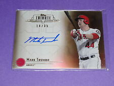 2014 Topps Tribute MARK TRUMBO #TA-MT Sepia Autograph/35 Angels - Diamondbacks