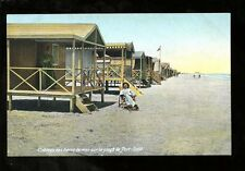Egypt PORT SAID Beach Cabins c1900s? PPC by local pub Ephtimios Freres