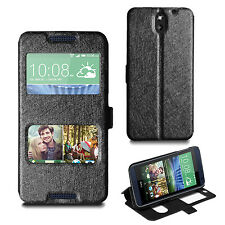 For HTC Desire 610 Slim Wallet Case Leather Flip Stand Cover + Screen Protector