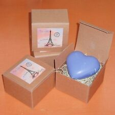 Heart Shaped Soap - Lavender Fragrance - Made in France,  Boxed, Price is for 1