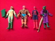 70's Mego Lot Marvel Originals. The Thing, Green Arrow, Lizard Man, Spider Man.