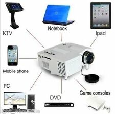 Wired Mini 1080P HD Multimedia LED Projector Home Theatre AV TV VGA HDMI Video