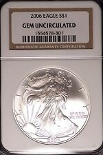 2006 $1 Silver Eagle Gem Uncirculated NGC