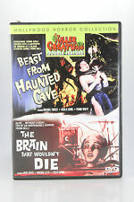 KILLER CREATURES DOUBLE FEATURE-BEAST FROM HAUNTED CAVE & BRAIN THAT WOULDNT DIE