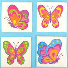 28 x Girls Pretty Pink Butterfly Design Temporary Tattoos - Party Bag Fillers