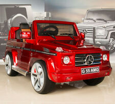 RED Mercedes G55 AMG 12V Kids Ride On Car Battery Power Wheels w/ RC & Remote