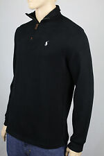 Polo Ralph Lauren 4XB Black 1/2 Half Zip Sweater White Pony NWT