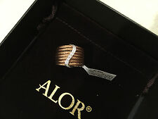 NWT Alor Charriol Classique 18K White gold Rose stainless steel diamonds $995