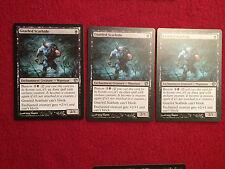MTG X3 Gnarled Scarhide Journey Into Nyx Magic the Gathering Black Cards