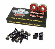 "Owlsome ABEC 7 Precision Skate Bearings + 1.0"" Hardware + Spacers"