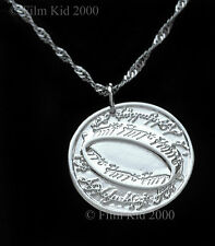 Hobbit Soldi MONETA Collana Argento LOTR Elfica Foglia The Lord of Rings Anello