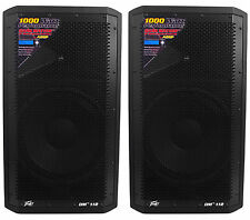 "(2) Peavey DM 112 12"" 1000W Painted Wood Active Powered PA Speakers+Digital DSP"