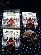 ASSASSIN'S CREED BROTHERHOOD PS3 Playstation 3 BLACK LABEL Mint! 100% Complete