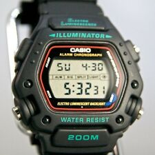 Casio DW290-1V Mens Black Classic 200m Sports Watch Alarm Chronograph DW-290