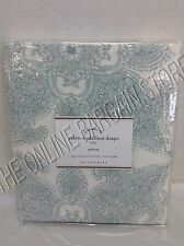 1 Pottery Barn Aiden Medallion Drapes Panels Curtains Pole Top Blue 50x108