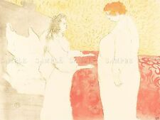 HENRI TOULOUSE LAUTREC FRENCH WOMAN BED PROFILE OLD ART PAINTING POSTER BB5671A