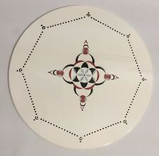 Tortenplatte 30cm Theodor Paetsch Design Spritzdekor Art Deco um 1930 Plate +++