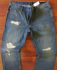 Banana Republic Straight Leg Jeans Mens Size 32 X 30 Vintage Distressed Wash NEW