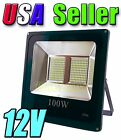 12V Low Voltage 100W Cool Pure White LED Wall Pack Flood Light Garage Outdoor