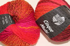 "Wolltruhe!  Lana Grossa  "" Cinque Multi ""  Fb. 3 rot/orange/pink/burgund    50g"