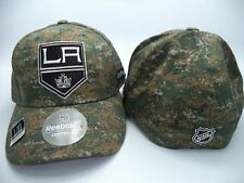 Los Angeles Kings Reebok NHL Structured FlexFit Camo USA Hat Cap L/XL