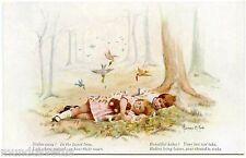HOWARD. M. KING. enfants perdus dans la forêt.féerique. fairy. children lost