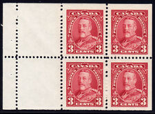 Canada #219a - King George V Pictorial, 3 cents Carmine Booklet Pane of 4, 1935