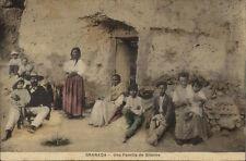 Granada Family Familia de Gitanos c1910 Postcard