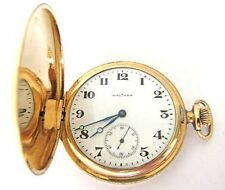 Antique 14K Solid Gold Waltham Pocket Watch,Hunter Case,S12,65.7 Grams,RUN !