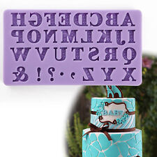 Alphabet Mold Fondant Sugarcraft For Candy/Chocolate/ice/Cake Silicone Mould bin