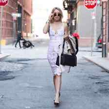 For Love and Lemons GIANNA MIDI DRESS, SizeS Ivory Retail$262