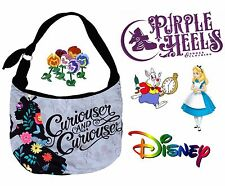 Loungefly / DISNEY ALICE nel paese delle meraviglie Floreale SILHOUETTE stranissimo HOBO BAG