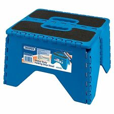 Draper Garage/Workshop Heavy Duty Folding Step Stool With Anti-Slip Grip - 19260