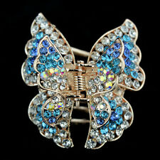 jewelry hair extension butterfly rhinestone crystal claws barrette clip comb pin