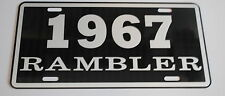 METAL LICENSE PLATE 1967 67 RAMBLER NASH AMC AMERICAN MOTORS 660 440
