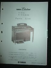 Yamaha Electone D-3(X)  D-3(X)IR.SR Part List Catalog Manual D3X D3XIRSR 1975