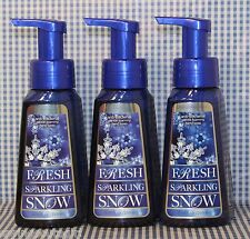 3 Bath & Body Works FRESH SPARKLNIG SNOW Anti-Bacterial Gentle Foaming Hand Soap