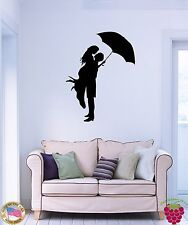 Wall Stickers Vinyl Decal Kissing Couple With Umbrella Romantic Love  (z1611)