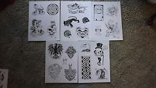 Tattoo Flash -  Set G- 10 Sheets of Quality Designs-$$$