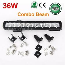 Slim 14'' 36W CREE LED Work Light Bar Spot Flood Combo Lamp Driving Offroad UTE