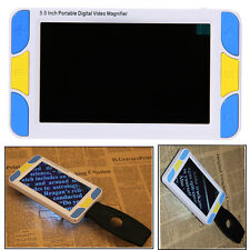 "Portable Digital LCD 5"" Color Electronic Magnifier Pocket Low Vision Reading Aid"