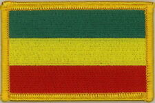 "Rasta African Flag (GYR) Embroidered Patches 3""x2"""