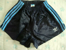 SWIMSUIT Adidas vintage FOOTBALL D6 nylon shiny running sprint jogging shorts M