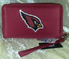 Arizona Cardinals NFL Cell Phone Wallet Rhinestone Bling NFL Licensed!