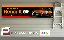 Renault 5 Rally Car Garage Banner for Workshop / Garage, Retro, Elf, Calberson