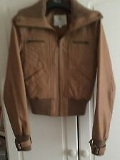 Womens Tom Wolfe Brown leather tan Jacket