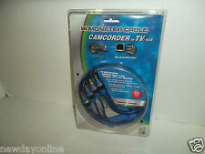 "Monster 6 Ft. Camcorder A/V Mini Jack To TV/VCR RCA Cable 1/8"" 16-3880 NEW"