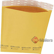 Size #0  Kraft Bubble Envelopes Ecolite Mailers 6.5 x 10 (Pack of 50)